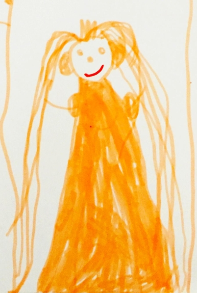 Portrait of me drawn by my four-year-old daughter